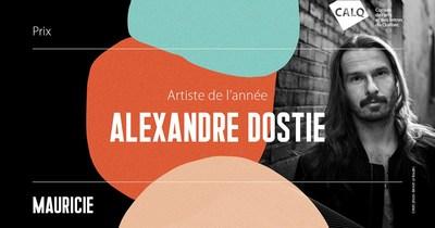 Alexandre Dostie remporte le prix du CALQ - Artiste de l'année en Mauricie. crédit photo : Benoit Le Rouzès (Groupe CNW/Conseil des arts et des lettres du Québec)