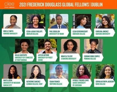 Los becarios mundiales Frederick Douglass de 2021 (PRNewsfoto/Council on International Educational Exchange (CIEE))