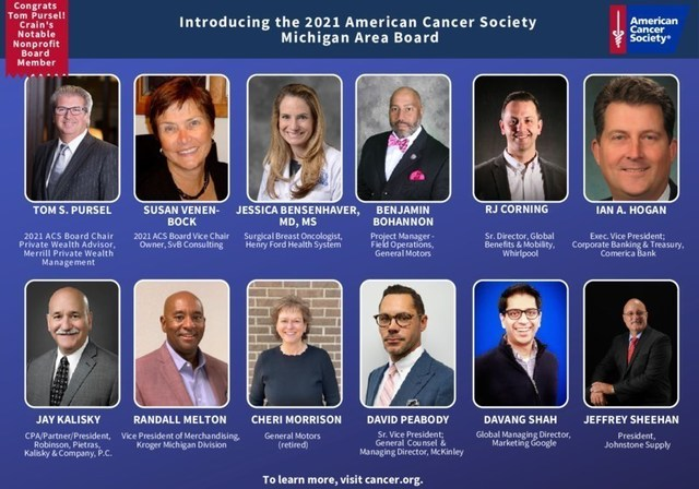 Introducing the 2021 American Cancer Society Michigan Area Board