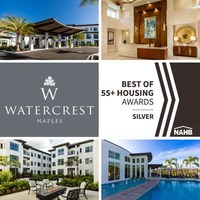 Watercrest Naples Selected as Silver Award Winner in the 2021 Best of 55+ Housing Awards