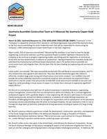 Josemaria Assembles Construction Team as it Advances the Josemaria Copper-Gold Project (CNW Group/Josemaria Resources Inc.)
