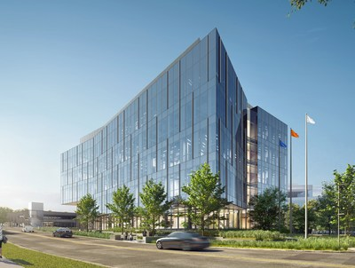 Rendering of Nexus on Grand by Flad Architects.