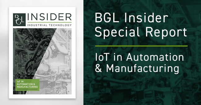 Brown Gibbons Lang & Company (BGL), a leading independent investment banking firm, has released a new research report on IoT in Automation  & Manufacturing. The industrial technology report covers global capital markets and mergers and acquisitions insights, trends and issues affecting the industry, and performance and valuation data. IoT is transforming the global manufacturing industry, with the COVID-19 pandemic accelerating the timeline for adoption.