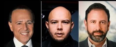 (L-R) Tommy Mottola, Lex Borrero, Peter Micelli