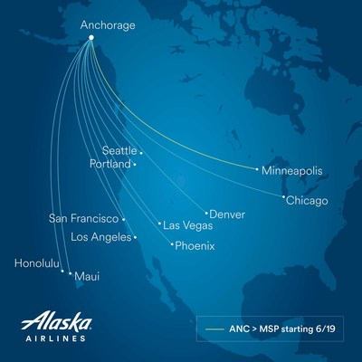 Alaska Airlines nonstops from Anchorage.