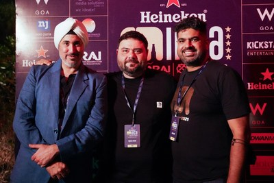 Left to Right Mr Gurpreet Singh Mr Riyaaz Amlani and Mr Aman Anand at INCA