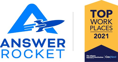 AnswerRocket was named a Top Workplace by The Atlanta Journal-Constitution for a second consecutive year