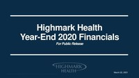 Highmark Health reports $18 billion in revenue and $450 million in earnings(1) through year-end 2020