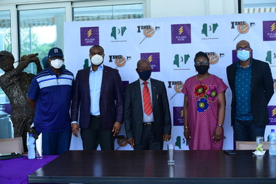 L-R: Dr. Anthony Oboh, Vice Chairman, Golf Section, Ikoyi Club 1938, Nduneche Ezurike, Head, Strategic Brand Management, Polaris Bank, Dr. M.I Okoro, Captain, Golf Section, Ikoyi Club 1938; Bukola Oluyadi, Acting Group Head, Customer Value Management & Strategic Communication, Polaris Band & Peter Eben-Spiff, Organizing Committee Chair, at the pre-Unity Golf Tournament media briefing sponsored by Polaris Bank & held at Ikoyi Club (Golf section) at the weekend.
