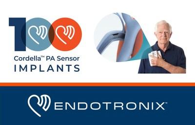 Endotronix celebrates the 100th implant of the Cordella PA Sensor