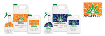 Grower's Ally Fungicide and Spider Mite Control - available in concentrate and ready-to-use formulas.
