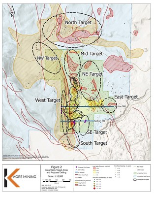 FIGURE 2:  RESOURCE AREA OXIDE EXPANSION TARGETS IN PLAN (CNW Group/Kore Mining)