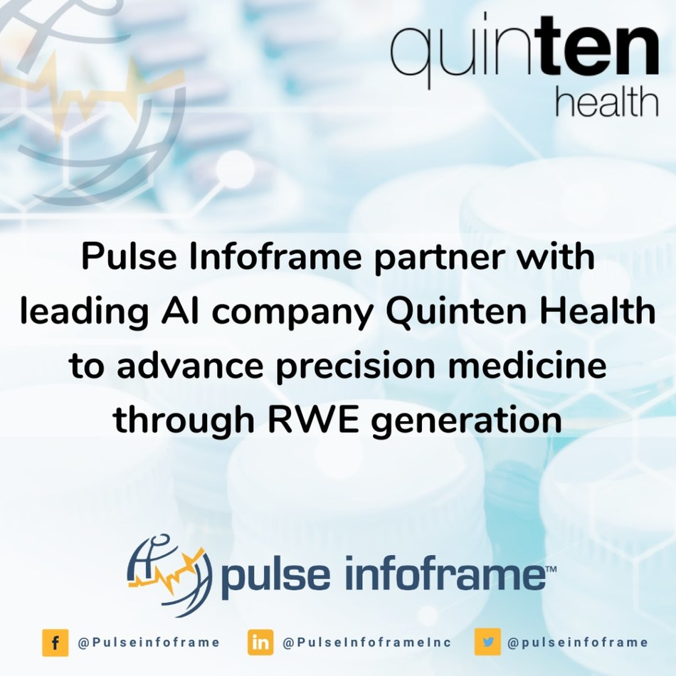 Pulse Infoframe & Quinten Health Partner to Advance Precision Medicine Through Real-World Evidence Generation