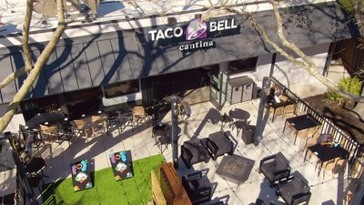 Taco Bell's Danville, California, opening is not only a location, but a destination, with an outdoor area and full bar offerings for dine-in guests once it's safe to do so.