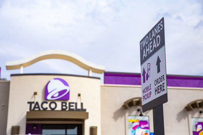 Taco Bell is reinventing what it means to be a restaurant of the future with a multitude of new design formats, including this Go Mobile in Ponca City, Oklahoma, as it plans to have 10,000 restaurants open globally this decade.