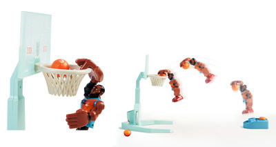 """Moose Toys, a leading innovator in the toy industry, in collaboration with Warner Bros. Consumer Products will have fans cheering with the introduction of an all-star line-up of products to celebrate the summer theatrical release of Warner Bros. Pictures' """"Space Jam: A New Legacy."""" The Space Jam: A New Legacy Super Shoot and Dunk LeBron James features the first ever action figure that really jumps, dunks and hangs-on-the-rim, just like LeBron's character in the film."""