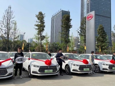 The latest EVs delivered by BYD to Senmiao in Chengdu. Source: Senmiao Technology Limited