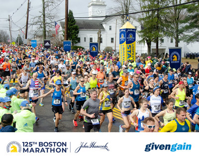 Participants of the 125th Boston Marathon can fundraise for any of 160 official charities—or their own personal favorite listed on the event's GivenGain page. (PRNewsfoto/The GivenGain Foundation)