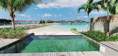 Private Garden and Infinity Pool overlooking the stunning coastline