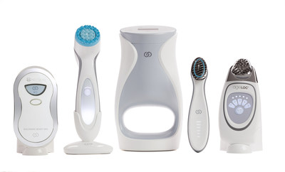 Nu Skin's family of beauty devices: ageLOC Body Spa, ageLOC LumiSpa, ageLOC Me, ageLOC Boost, and Nu Skin Facial Spa (Not all products are available in all markets)