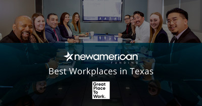 New American Funding is Named a Best Workplace in Texas