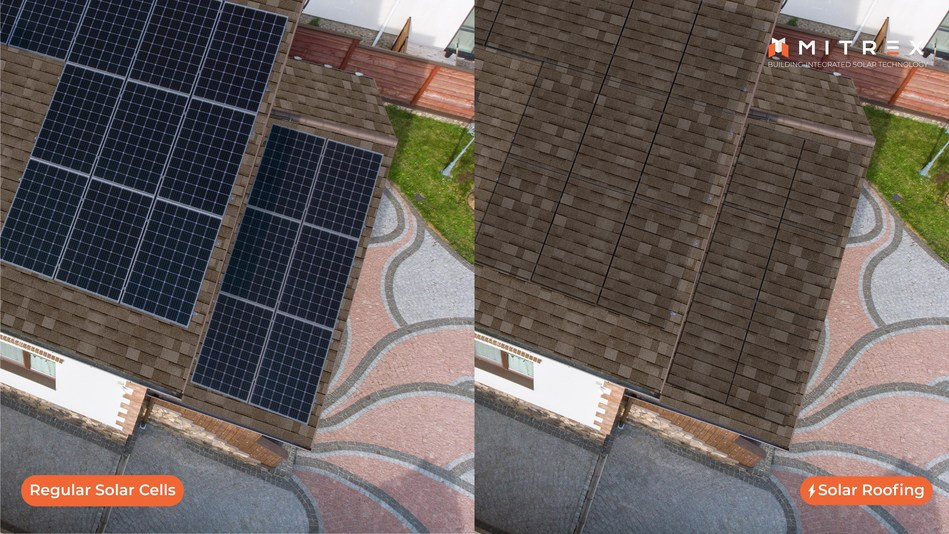 Mitrex's Solar Roof BIPV technology provides homeowners a cost-efficient energy solution (CNW Group/Mitrex)