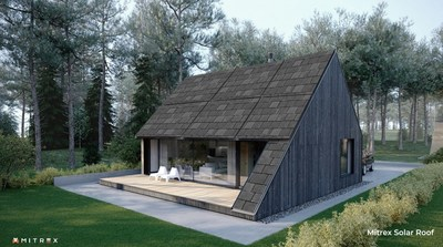 Mitrex's products can seamlessly mimic the appearance of traditional asphalt and slate shingles, with various colours and patterns available. (CNW Group/Mitrex)