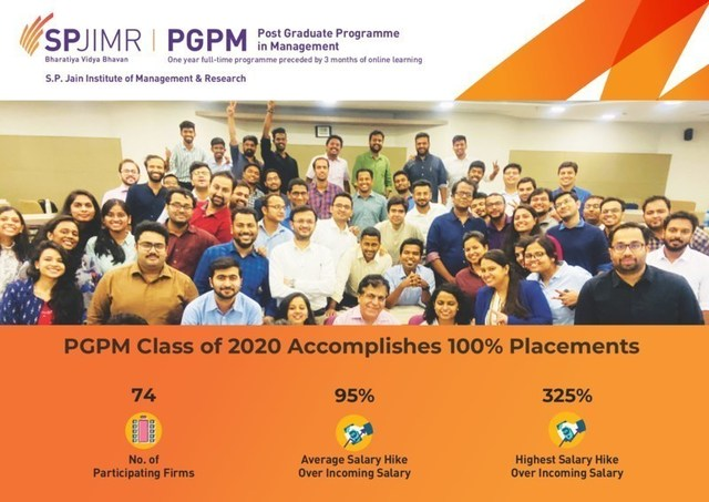 SPJIMR's PGPM Class of 2020 fully placed