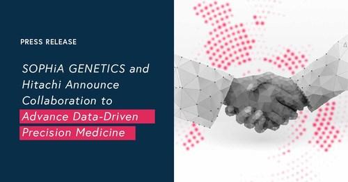 SOPHiA GENETICS and Hitachi Announce Collaboration to Advance Data Driven Precision Medicine (PRNewsfoto/SOPHiA GENETICS)