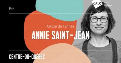 Anne Saint-Jean remporte le prix du CALQ - Artiste de l'année au Centre-du-Québec. crédit photo : Étienne Boisvert (Groupe CNW/Conseil des arts et des lettres du Québec)