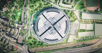 The new Interxion Paris Digital Park, under construction now.