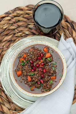 First Place was Awarded to Diane Boyd for her Pomegranate Vegetable Soup with Lentils Recipe.