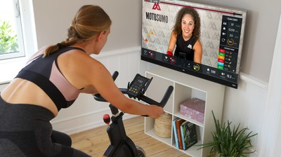 Motosumo is a live, interactive platform for at-home cycling classes that works with any stationary bike.