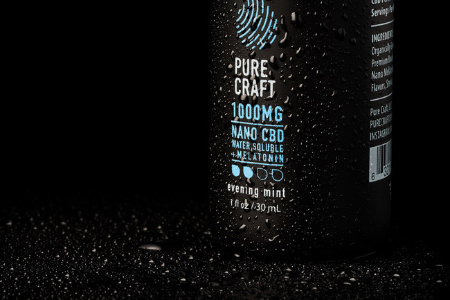 Pure Craft's Nano CBD Water Soluble with Melatonin