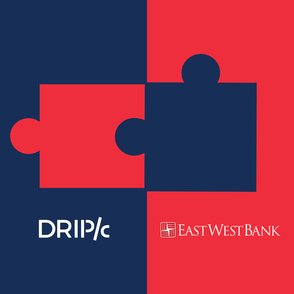 Drip Capital closes $40M Committed Warehouse Credit Facility from East West Bancorp to facilitate trade finance to small businesses. (PRNewsfoto/Drip Capital)