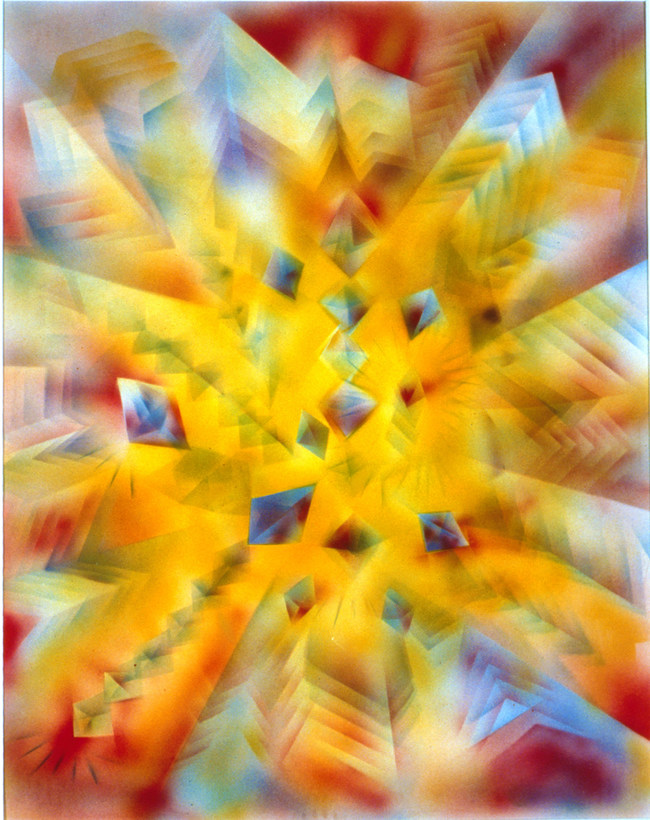 Facets II Painting by Jerry Garcia