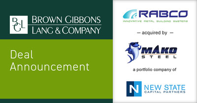 Brown Gibbons Lang & Company (BGL) is pleased to announce the sale of a majority stake of Rabco Enterprises LLC (Rabco) to Mako Steel (Mako), a portfolio company of New State Capital Partners. BGL's Industrials team served as the exclusive financial advisor to Rabco in the process.