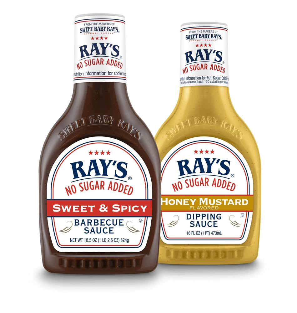 Sweet Baby Ray's is adding two new sauce flavors, Sweet & Spicy BBQ and Honey Mustard Flavored Dipping Sauce, to its popular Ray's No Sugar Added line in time for peak grilling season.