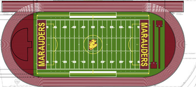Structural drawing of the new field with the track.