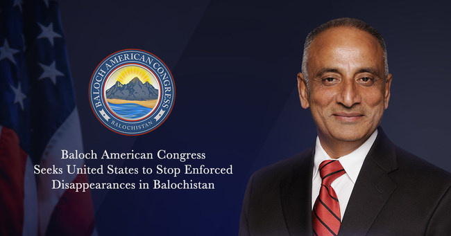 Baloch American Congress Seeks United State to Stop Enforced Disappearances in Balochistan
