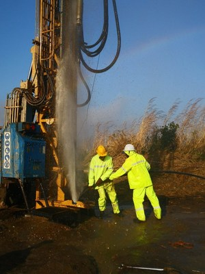 Fully equipped, Spartan Drilling Services and their trained teams repaired and restored 100 of the 200 unusable boreholes. (PRNewsfoto/Spartan Drilling Services)