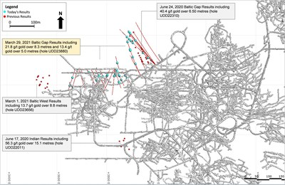 Figure 2: Baltic Gap Extension Drilling Location (Plan View) (CNW Group/Superior Gold)