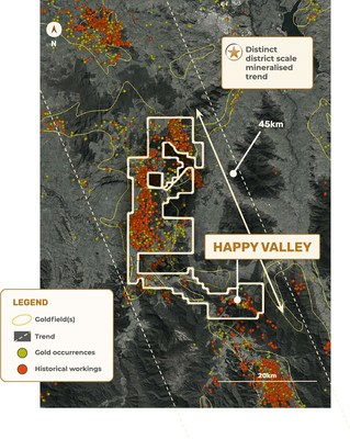 Figure 2 – EL006724, Myrtleford, showing location of the Happy Valley Mining Centre (CNW Group/E79 Resources Corp.)