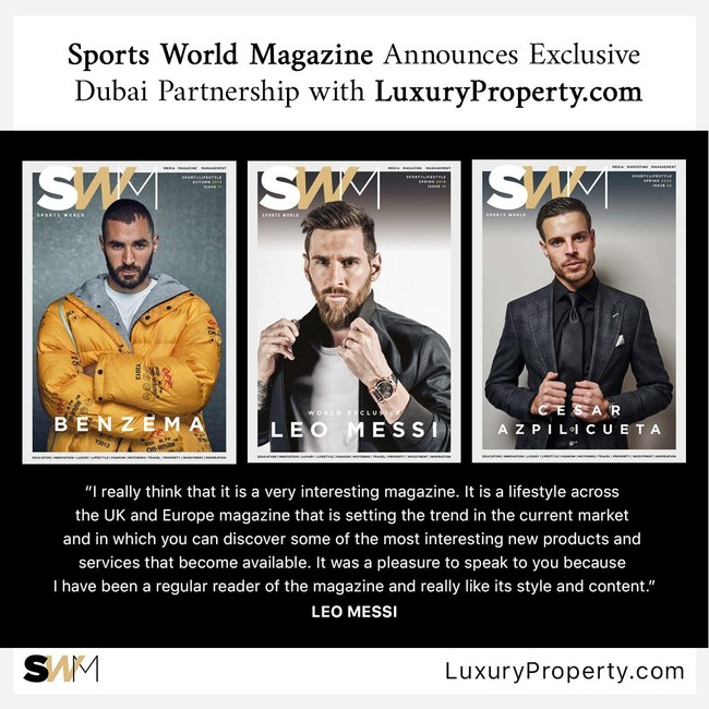 Sports World Magazine has appointed LuxuryProperty.com as its exclusive Middle East real estate partner