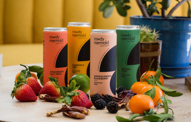 Rowdy Mermaid launches Adaptonic sparkling tonics crafted with luscious fruits, botanical herbs and immunity-supporting reishi mushrooms