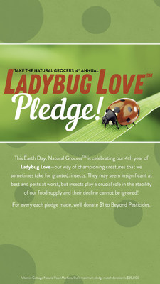 Join Natural Grocers and Beyond Pesticides in continuing to eliminate synthetic pesticides used in public spaces. Help eradicate the countless harmful effects of these chemicals on the environment, human health, pet health, and the health of the pollinators we rely on to support the integrity of our ecosystem, food supply, and economy. The goal of the multi-faceted fundraising efforts of the Ladybug Love campaign is to to raise $250,000 for Beyond Pesticides.