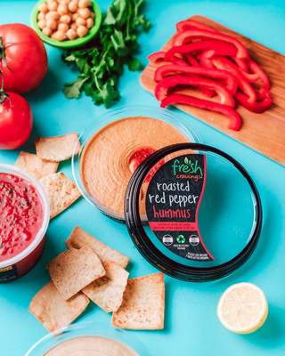 Fresh Cravings new hummus comes in 100% recyclable packaging and is made with high-quality ingredients like NON-GMO chickpeas, rich Chilean extra virgin olive oil, and savory tahini.