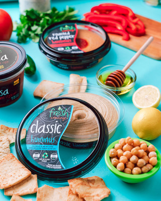 Fresh Cravings new hummus line is now available in Produce Departments at Kroger and Kroger banners in Classic and Roasted Red Pepper.