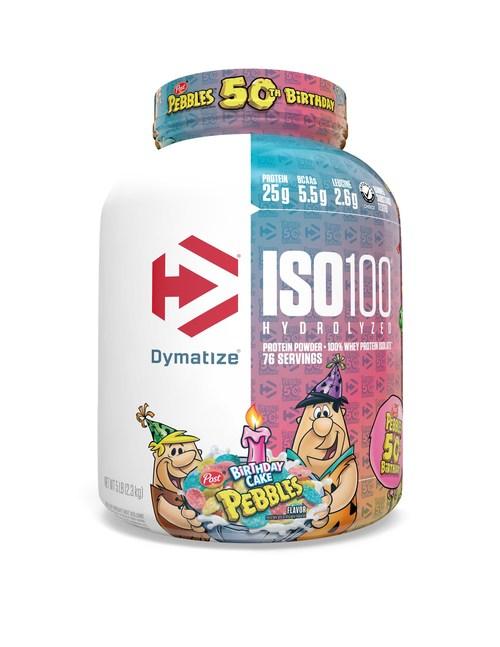 Dymatize ISO100 PEBBLES Birthday Cake Hydrolyzed 100% Whey Protein Isolate