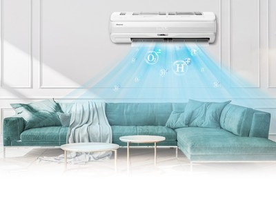 O ar-condicionado Fresh Master da Hisense equipado com tecnologia HI-NANO estará à venda em vários mercados europeus em maio de 2021. (PRNewsfoto/Hisense)